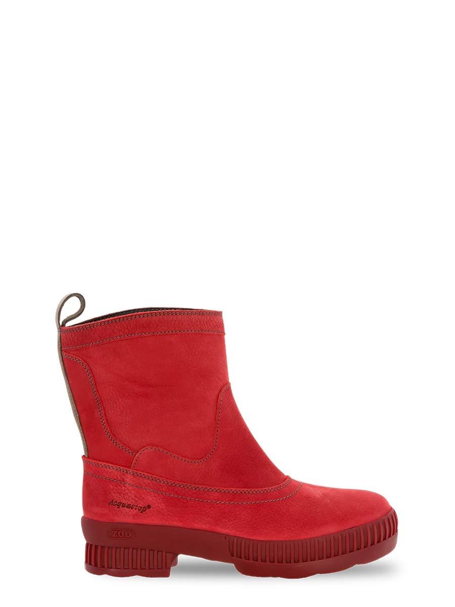 ZOO Adventure Brechje   Wasserdichte Outdoor Damenstiefel aus Leder Leder Leder   Kurze outdoorstiefel für Damen   mit Gummisohle   Rot d6212c