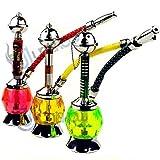"UNISHOW® 8"" Diamond Mini Portable Tobacco Hookah Huka Shisha Pipe 1 Hose (Diamond - Color May Vary)"