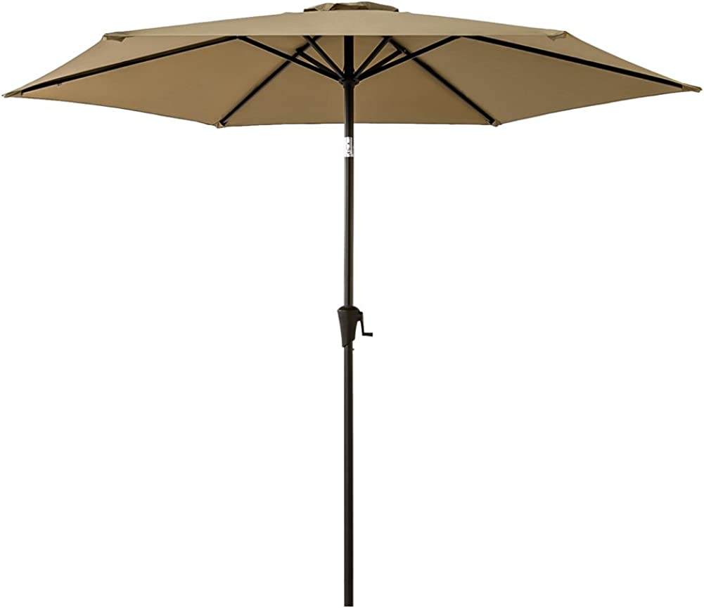 FLAME SHADE 9 ft Outdoor Patio and Table Umbrella