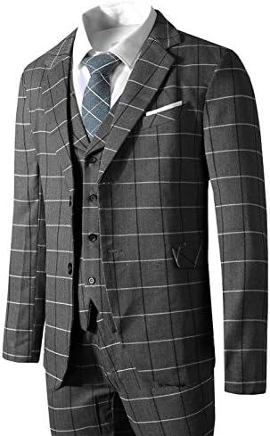 Hanayome メンズスーツスリーピース スリム メンズ ビジネス 2つボタン スーツ 防シワ 大きいサイズ 入社式/卒業式/就職/結婚式 礼服