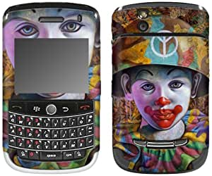 MusicSkins, MS-RONE20033, Ron English - Camo Peace Clown, BlackBerry Tour (9630), Skin