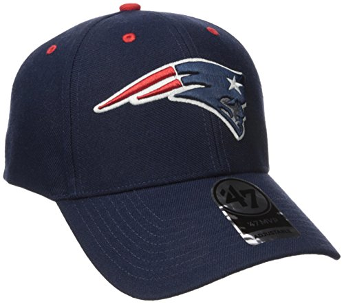 NFL New England Patriots '47 MVP Adjustable Hat, One Size, Light Navy