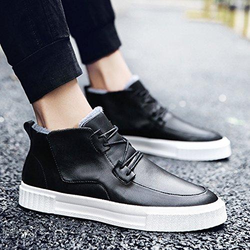 Men's Shoes Feifei Non-Slip High Help Keep Warm Casual Shoes 3 Colors (Color : Black, Size : EU40/UK7/CN41)