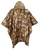 QZUnique Men Lightweight Outdoor Ripstop Waterproof Packable Travel Rain Poncho Camouflage Raincoat with Hood
