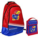 Forever Collectibles Kansas Jayhawks Official NCAA One Size Backpack Core Bag Insulated Lunch Box Cooler
