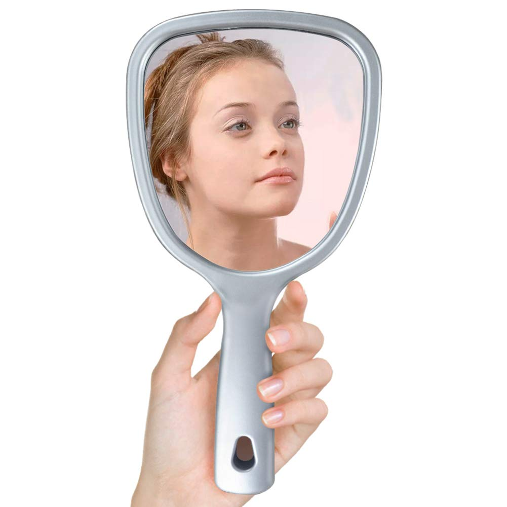 EdenseeLake Hand Makeup Mirror with 2X 3X Handheld Magnifying Mirrors on Back, 5.6 x 10.2 Inch