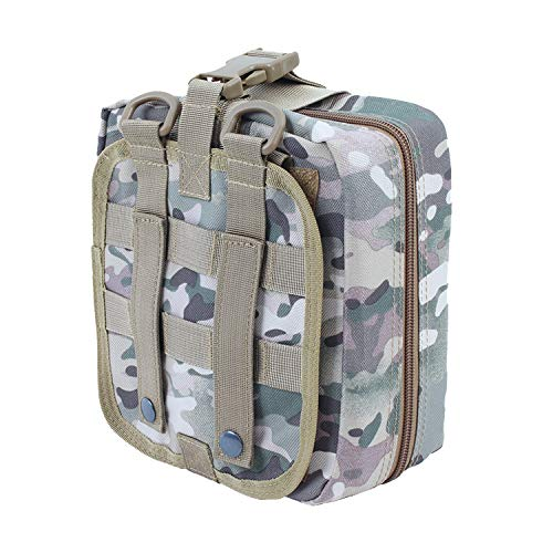 INDEPENDENT-NEWBIE First Aid Pouch Patch Bag Molle/Hook & Loop Dual use Amphibious Medic Pouch,Multi