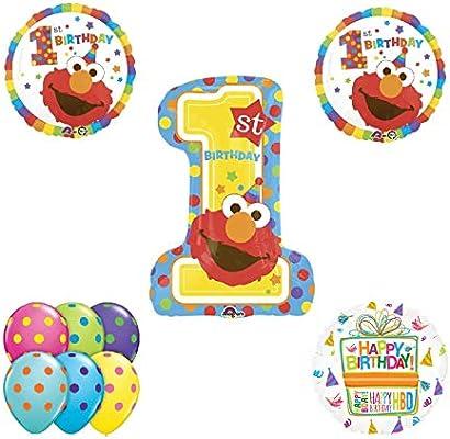 Amazon.com: Elmo - Ramo de globos y accesorios para fiesta ...
