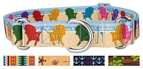 Country Brook Petz | Beach Getaway Martingale Dog Collar - Large