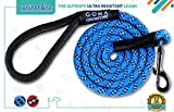 DOG LEASH by GOMA - Best Heavy Duty and Reflective Lead - 100% NYLON increased safety for night walking - For walking Medium and Large sized breeds - ergonomic grip made with mountain climbing rope