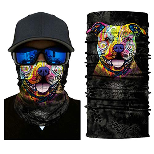 Price comparison product image Headb 3D Seamless Animal Puppy Tube Shield Face Mask Motorcycle Ring Head Skull Scarf Men Women 1-2