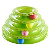 Patgoal Interactive Pet Cat Toys, Three Levers Tower of Tracks Bar Pet Cat Ball Toys