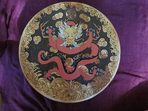 Oriental Dragon Pyrography Original Hand Made Turn Style Table by Shannon Ivins