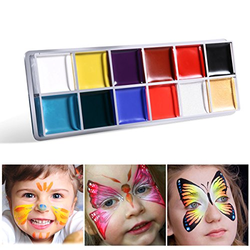 NUOLUX 12in1 Flash Colors Face Body Oil Painting Art Make Up Christmas Party Fancy Dress Artist Palette