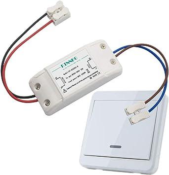 Kit de interruptor de luces inal/ámbricas AC90-260V Interruptor de control remoto inal/ámbrico inteligente Dispositivo de control inteligente para el hogar
