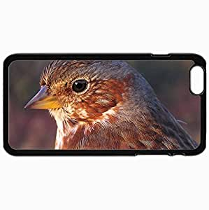 Customized Cellphone Case Back Cover For iPhone 6 Plus, Protective Hardshell Case Personalized Bird Black