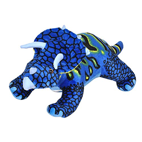 Cuddly Soft Stuffed Animal Toy 15 '' Blue Triceratops Dinosaur Stuffed Doll Party Toys Kids' Plush Pillows Cushion Fiesta Toy For Graduation Valentine's Day Birthday Xmas Christmas Best Gifts by AngelGift