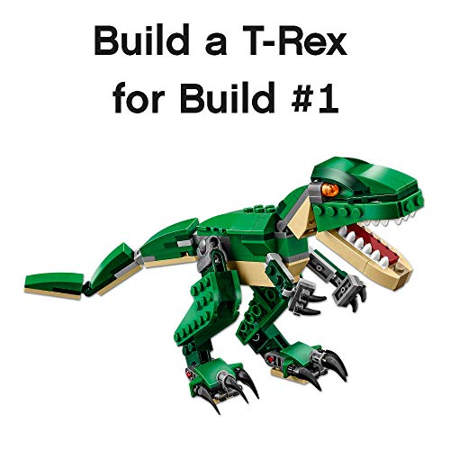 51 ddx5GETL - LEGO Creator Mighty Dinosaurs 31058 Build It Yourself Dinosaur Set, Create a Pterodactyl, Triceratops and T Rex Toy  (174 Pieces)