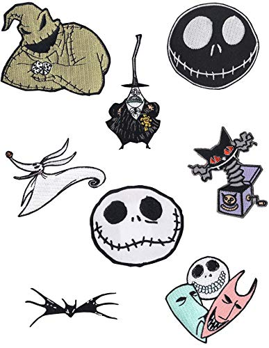 Loungefly Disney Nightmare Before Christmas Jack Skellington 8pc Iron On Patches