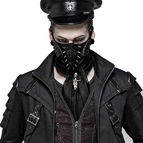 Punk Dark Masks Biker Half Face Mask Heavy Metal Rock Roll Rivets Anti-Dust Sport Mask