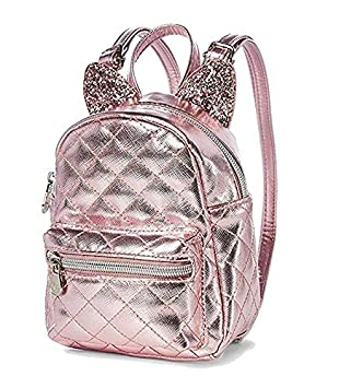60e4072b527b Justice Rose Gold Cat Quilted Tiny Small Mini Backpack