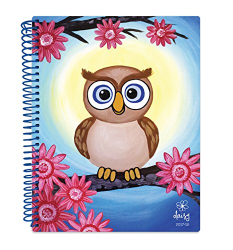 "Daisy Student Planner 2017-18 Academic Year Daily Planner August 2017 Through July 2018 Elementary School Middle School Planner 7"" x 9"" - Owl"