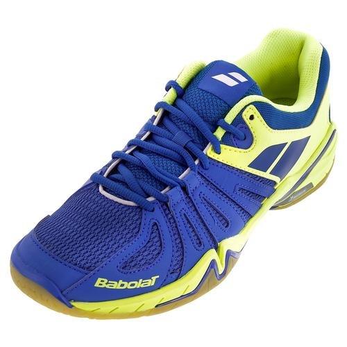 Babolat Hommes`s Shadow Spirit Chaussures De Tennis Bleu Et Jaune- (30s1611-235u16) Bleu