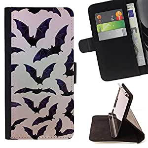 For HTC Desire 820 Bat Halloween Black Pattern Nature Style PU Leather Case Wallet Flip Stand Flap Closure Cover