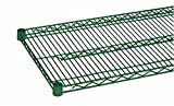 (2) HEAVY DUTY COMMERCIAL WIRE SHELVING - EPOXY COATED W/ SLEEVE CLIPS 24'' X 72''
