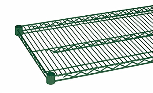(2) HEAVY DUTY COMMERCIAL WIRE SHELVING - EPOXY COATED W/ SLEEVE CLIPS 24'' X 72'' by Wellington Group