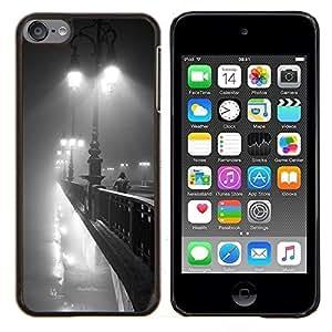 TECHCASE---Cubierta de la caja de protección para la piel dura ** Apple iPod Touch 6 6th Touch6 ** --Luces París Puente Noche Romántica