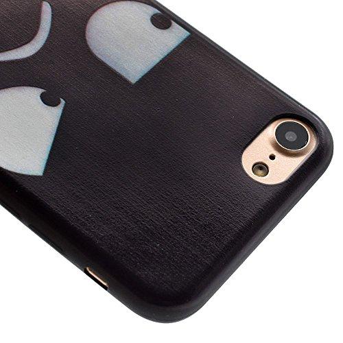 "HYAIT® For IPHONE 7 4.7"" [XXG BLACK V1]Scratch-Proof Ultra Thin Rubber Gel TPU Soft Silicone Bumper Case Cover -BKI10"