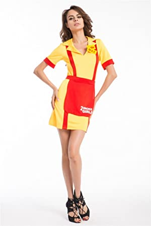 Shoperama 2 Broke Girls Costume Pour Femme Avec Inscription En