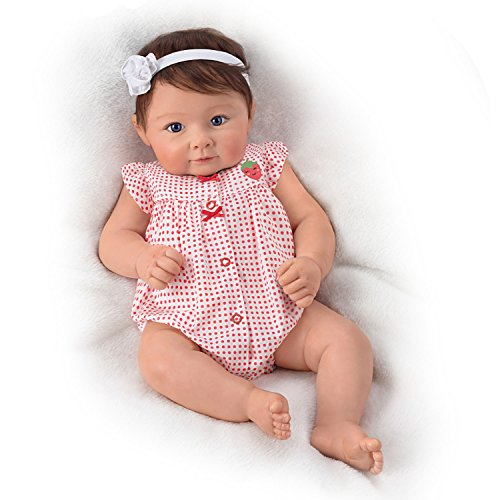 The Ashton-Drake Galleries Ava Elise with Hand-Rooted Hair So Truly Real Lifelike & Realistic Weighted Newborn Baby Doll 17-inches