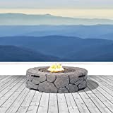 Century Modern Outdoor Fire Pit for Outdoor Home Garden Backyard Fireplace by (Round Shape Gray Finish)