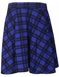 Purple Hanger Curvy PurpleHanger Women's Tartan Check Skater Skirt Plus Size