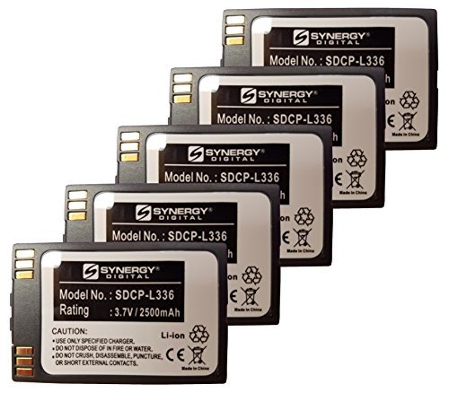 Synergy Digital Cordless Phone Batteries - Replacement for SPECTRALINK 6020, 8020, 8030, BPL100, BPL200, BPL300, LTB100 Cordless Phone Batteries (Set of 5) by Synergy Digital
