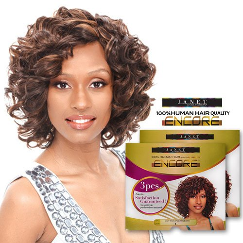 Janet Collection Human Hair Blend Weave Encore Lady Hilson 3Pcs (1) - Janet Collection Hair Weave