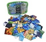 3 LBS / 45 OZ Beautiful LARGE PIECE Mosaic Tile Opalescent Stained Glass Mosaic Scrap Value pack. Glass Mosaic tiles for Crafts, Picture Frames, Mirrors, Ceramics, Stained Glass and Jewelry