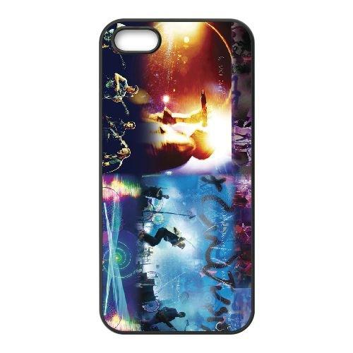 Coldplay 002 2 coque iPhone 5 5S cellulaire cas coque de téléphone cas téléphone cellulaire noir couvercle EOKXLLNCD22922