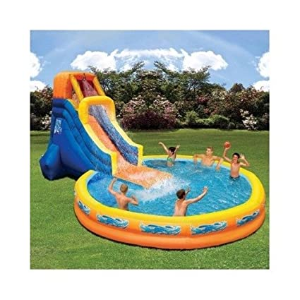 Water Slides Are Inflatable PortableOutdoor Fun Slide Pool ComboWater