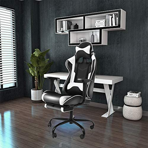 Gaming Computer Home Ergonomic Office Desk Chair with Footrest Headrest Armrest