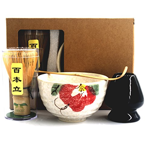Best Prices! Complete Start Up Matcha Tea Kit - Retro Japanese Natural Bamboo Matcha Whisk ( Chasen ...
