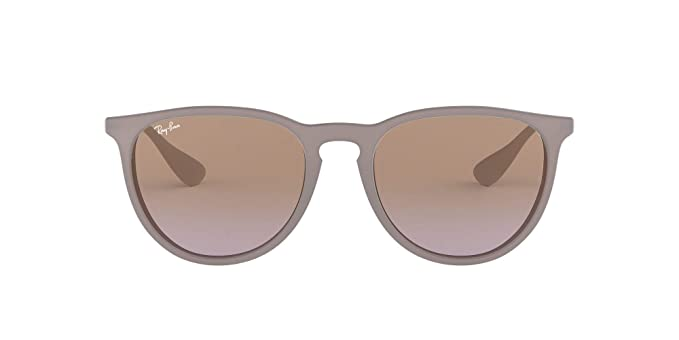 Ray-Ban Erika Gafas de sol, Marrón/Plata (Brown; Silver) (600068), con lente Marrón/Violeta Degradada (Brown/Violet Gradient)