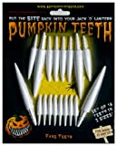 Halloween Pumpkin Carving Kit - Pumpkin Teeth for your Jack O' Lantern - Set of 18 White Fang Teeth