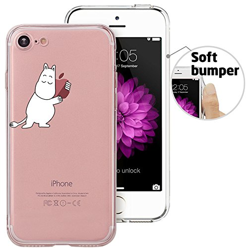 Protective Cover Slip Anti (iPhone 8 Case, iPhone 7 Case, Doramifer Funny Series Protective Case [Anti-Slip] [Good Grip] [Ultra Thin] with Aesthetic 3D Print Soft Back Cover for 4.7 inch iPhone 7/iPhone 8 (Hug Me))