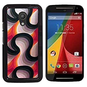 Be Good Phone Accessory // Dura Cáscara cubierta Protectora Caso Carcasa Funda de Protección para Motorola MOTO G 2ND GEN II // Lines Purple White Black Abstract