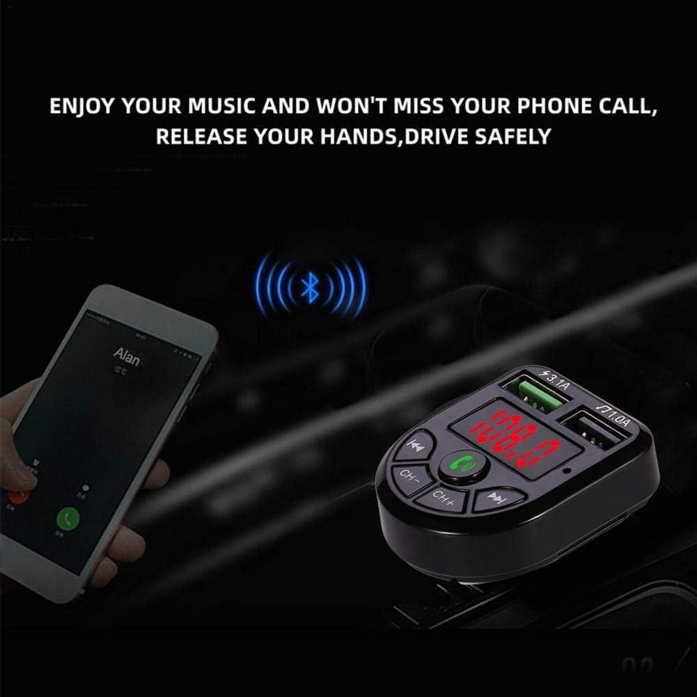 Upgraded Adaptateur Mains Libres r/écepteur Audio sans Fil pour Adaptateur de r/écepteur Audio avec /écran /à LED Transmetteur FM Bluetooth5.0 de Voiture gaeruite