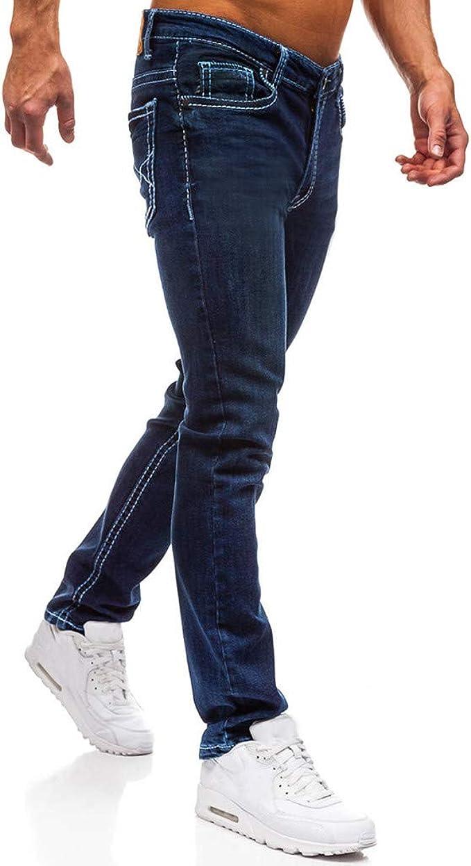 Corte Ajustado Mezclilla Pantalones Straight Vaqueros Jeans De Moda Skinny Slim Fit Jeans Otono E Invierno Nuevo Pantalon Casual Para Hombre Con Bolsillos Zezkt Vaqueros Deportivos Hombre Vaqueros
