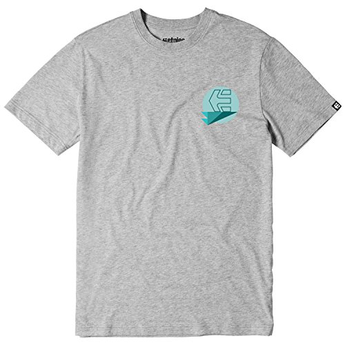 Etnies Skateboard T-Shirt Stones Front and Back Youth Kids Grey/Heather Size XL - Etnies Kids T-shirt